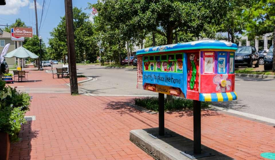 Streetcar Sculpture - Harrison Avenue