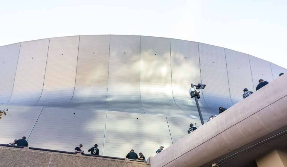 The Superdome on game day