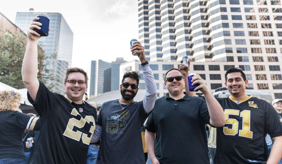Saints Fans Tailgating