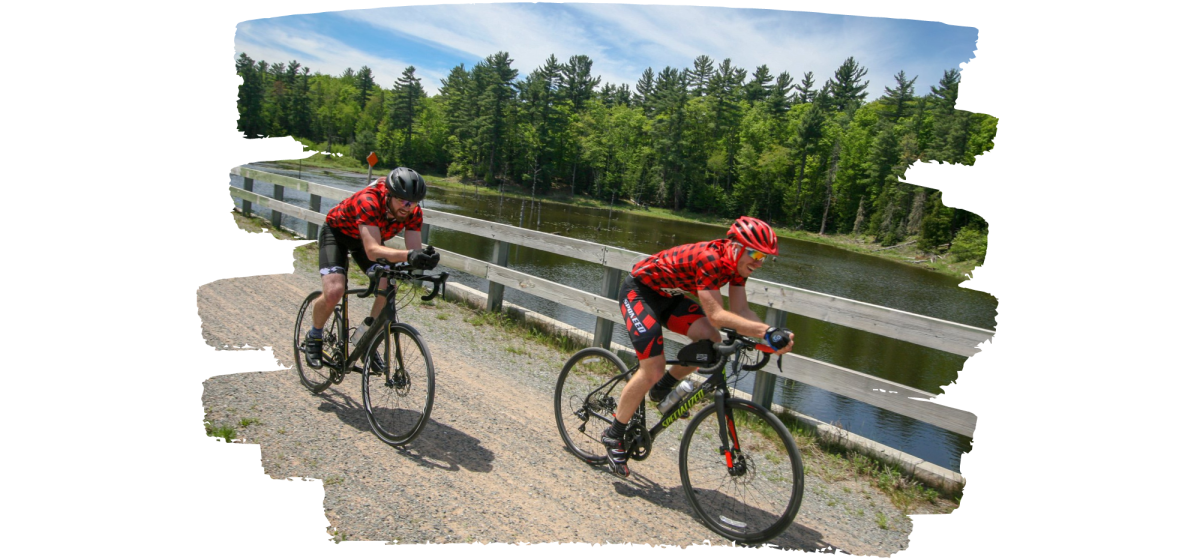 Bike riders on the IOHT during the Iron Range Roll
