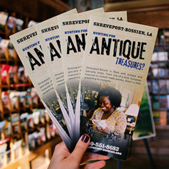 Antique Treasures in Shreveport-Bossier brochures