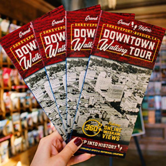 Shreveport-Bossier's Downtown Walking Tour brochures