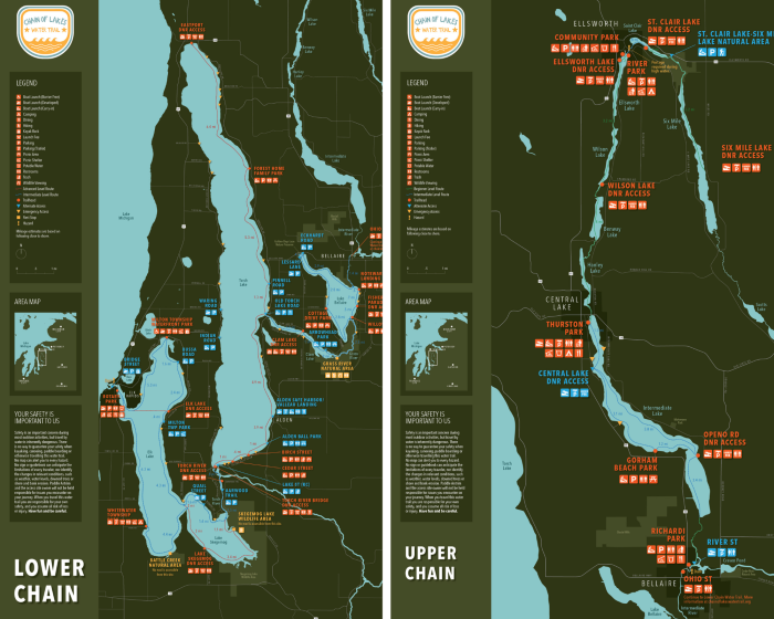 Maps of the Chain of Lakes