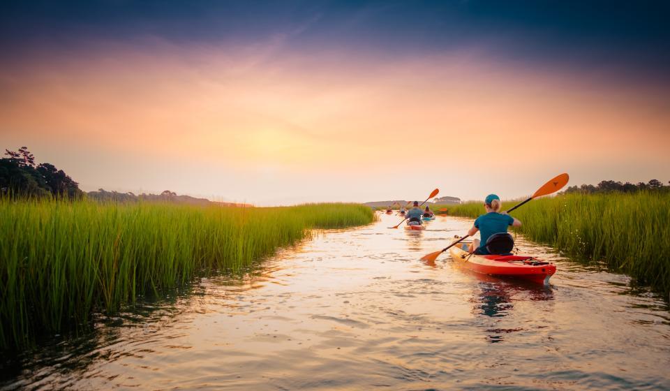 Sunset Kayak Tour in Myrtle Beach area