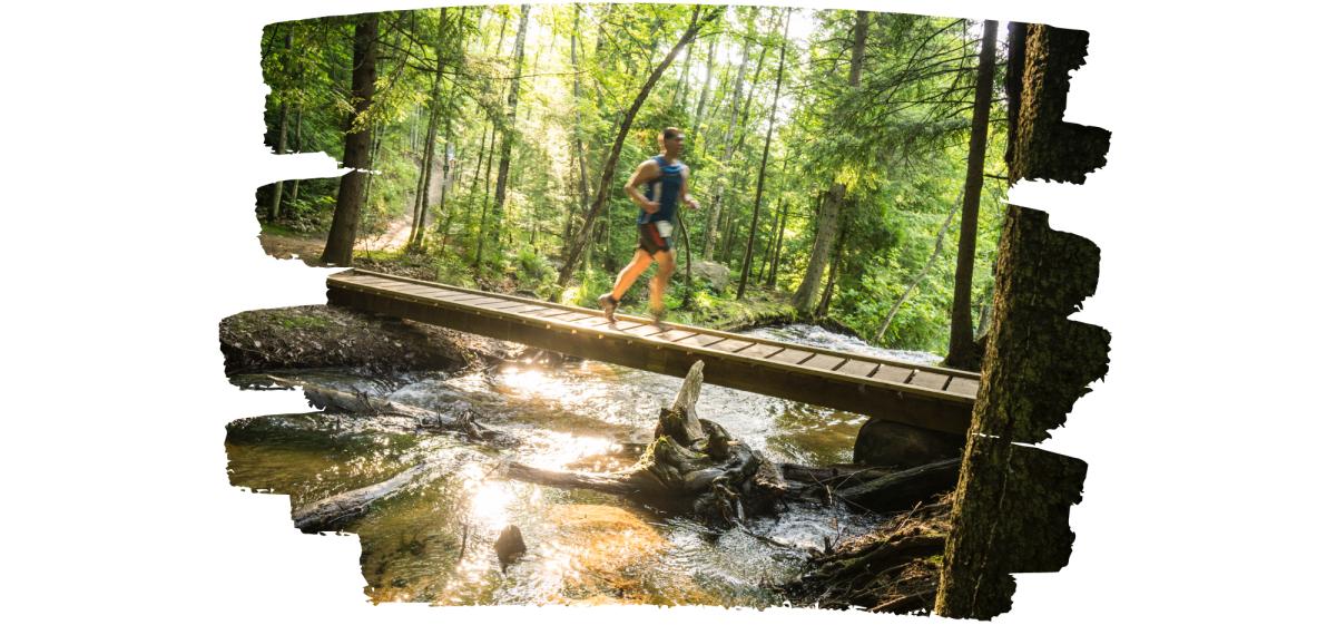 Runner on NTN trails at Trails Fest