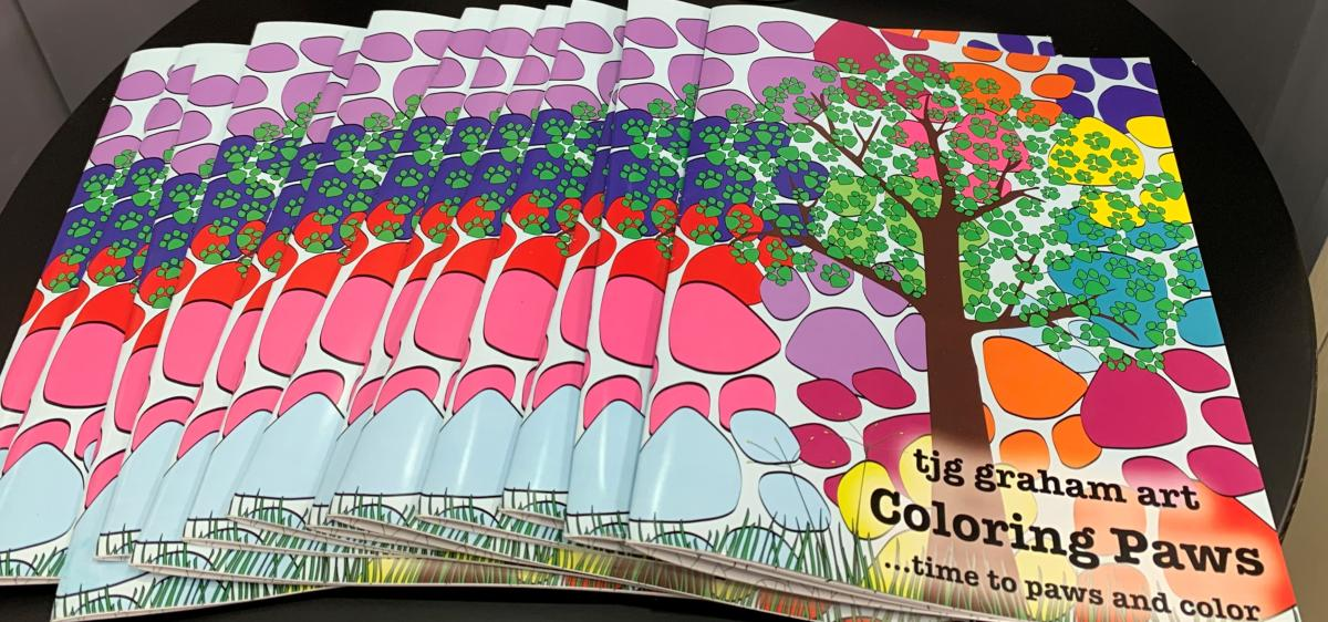 Paw Print Coloring Book