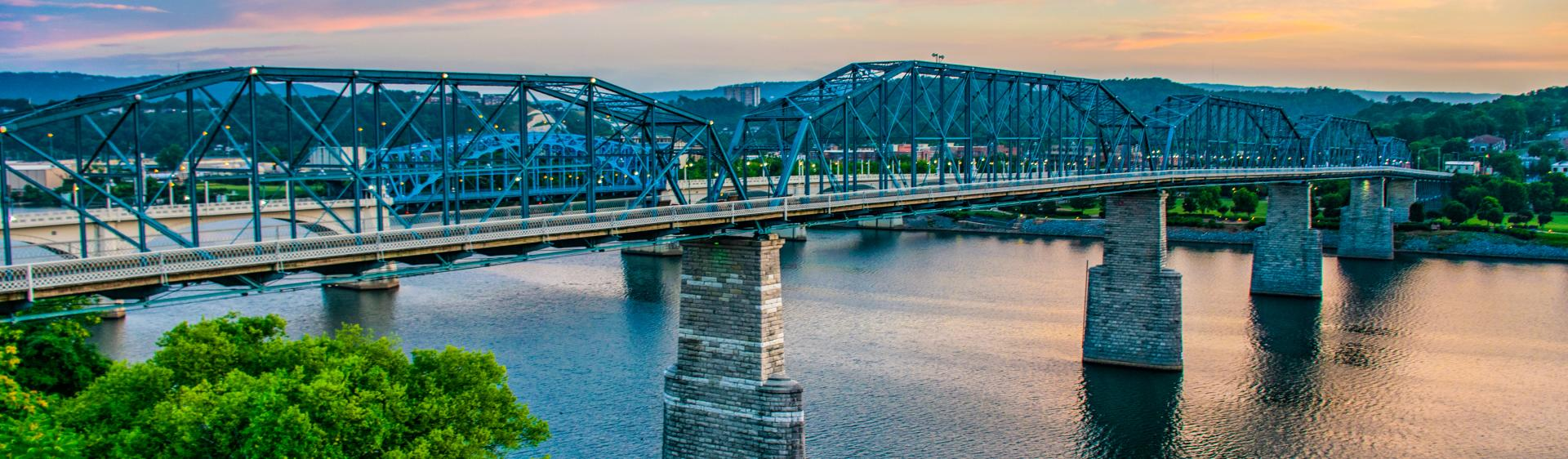 Walnut Street Bridge_Sunset