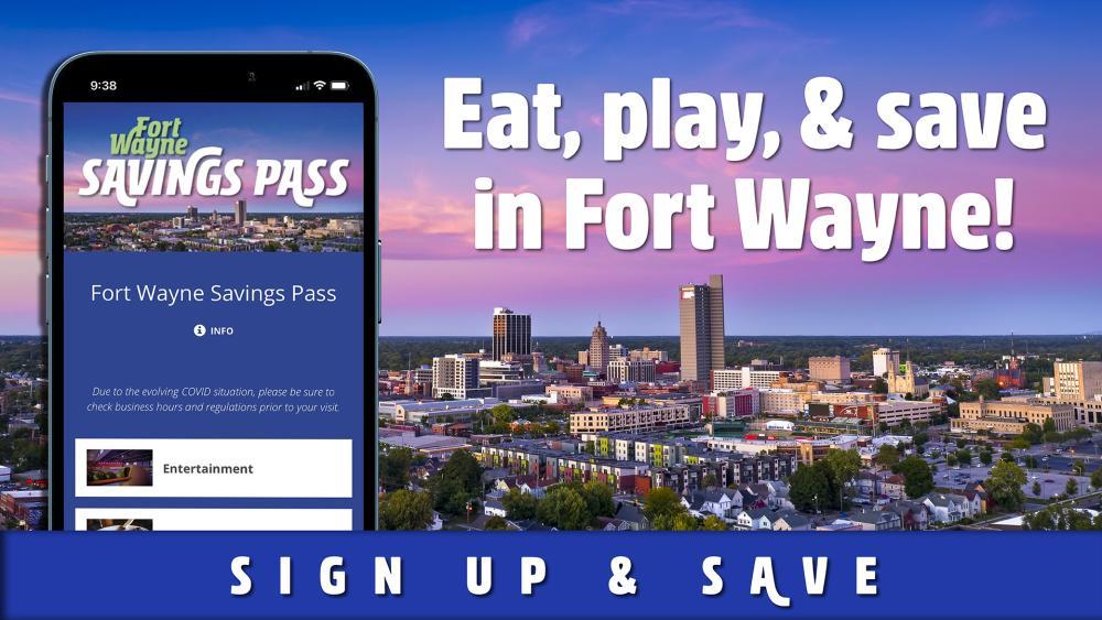 Fort Wayne Savings Pass promotional graphic