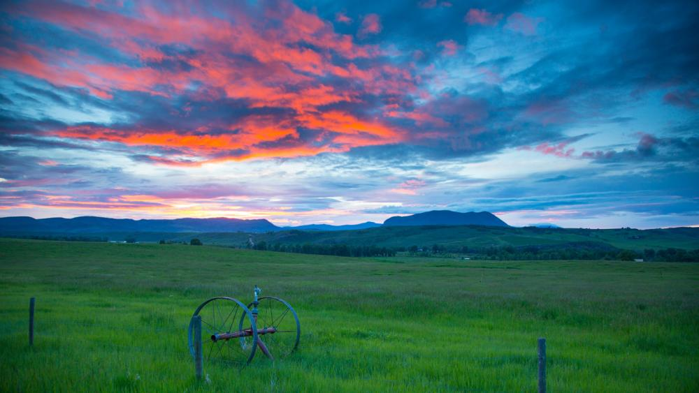 Routt County sunset