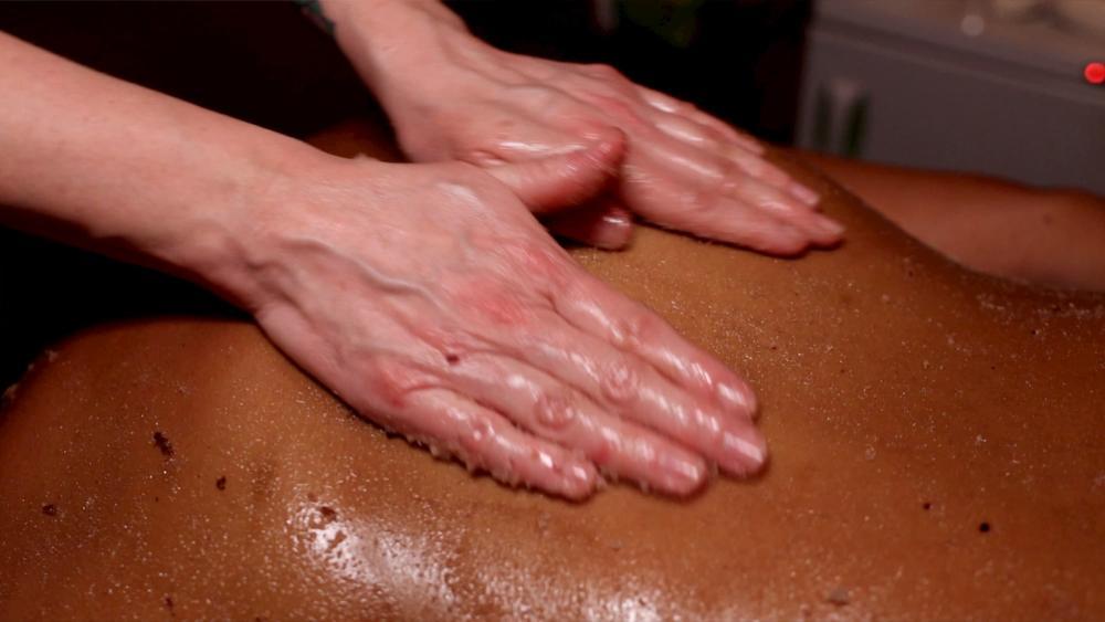 Cabernet Body Polish During Massage at Bohemia Healing Spa