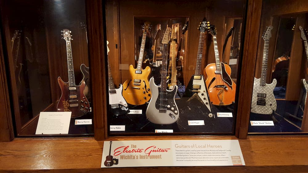 Electric Guitar Exhibit at Wichita-Sedgwick County Historical Museum