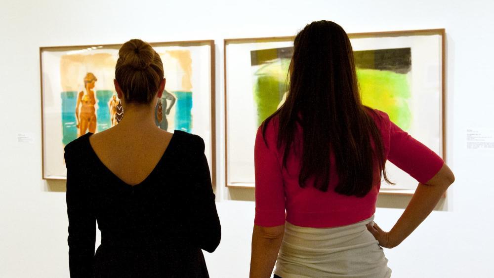 Browsing Exhibits at Wichita Art Museum