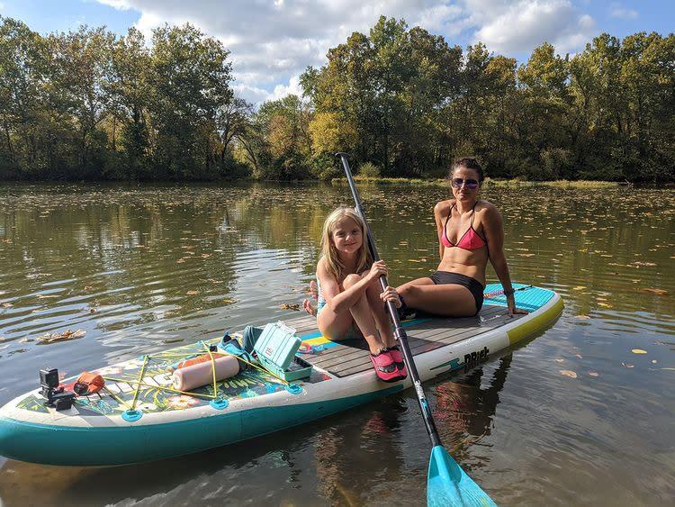 Paddleboarding at James River