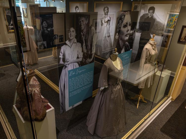 Ava Museum's 2021 Costume Exhibit in the Main Case