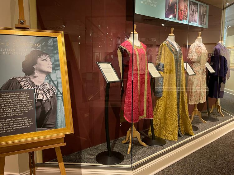 Ava Gardner Television Costumes in the new exhibit opening.