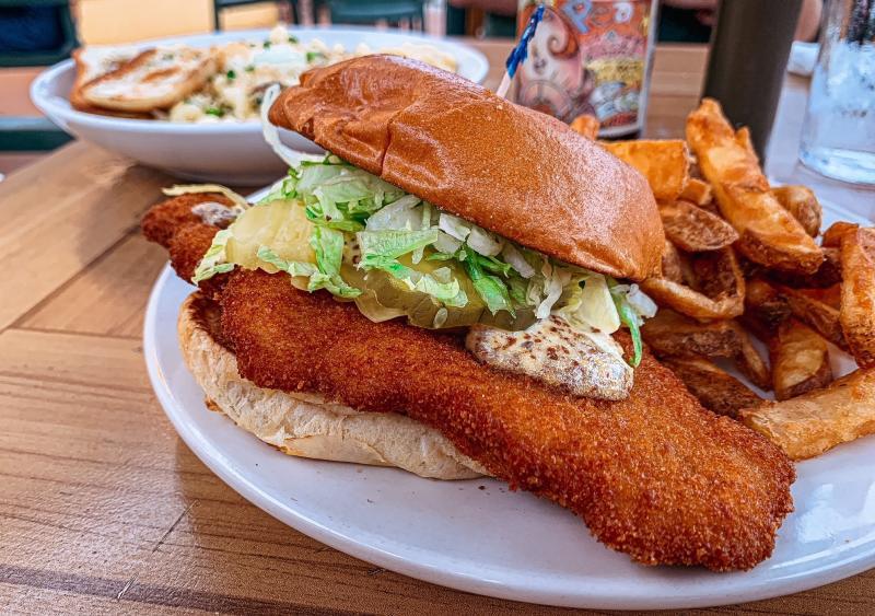 Pork tenderloin sandwich from Upland