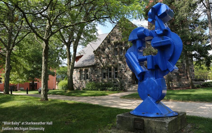 Sculptures at Eastern Michigan University