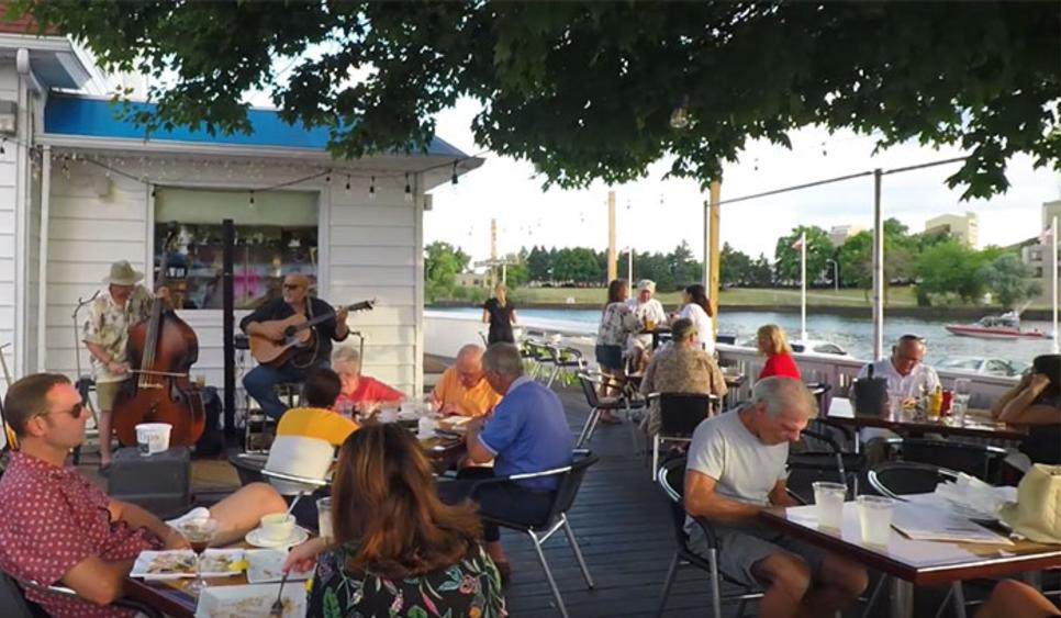 Bartlett's Fish Camp - outdoor dining in Michigan City