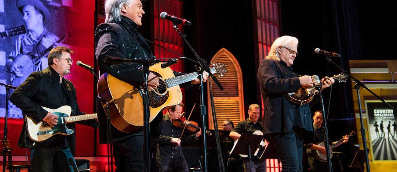 A photo of Marty Stuart in concert