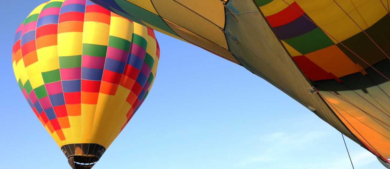 view of balloons during Red River Balloon Rally in Shreveport, Louisiana