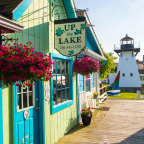Lakeview Village Shoppes on Lake Ontario in Olcott