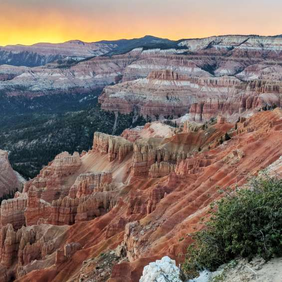 Sunset over Cedar Breaks National Monument