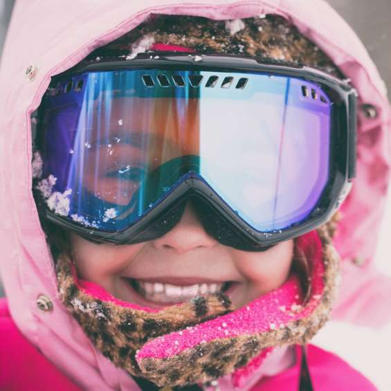 Little Girl Skiing at Brighton