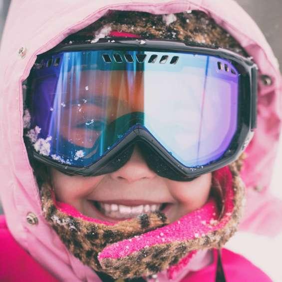 Little Girl Skiing at Brighton