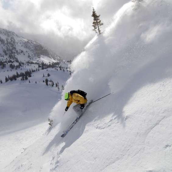 Skiing at Snowbird