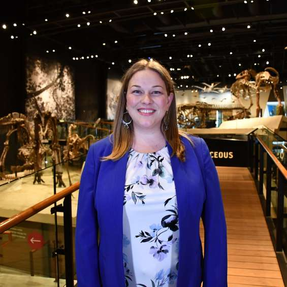 Carrie Levitt-Bussian at the Natural History Museum of Utah