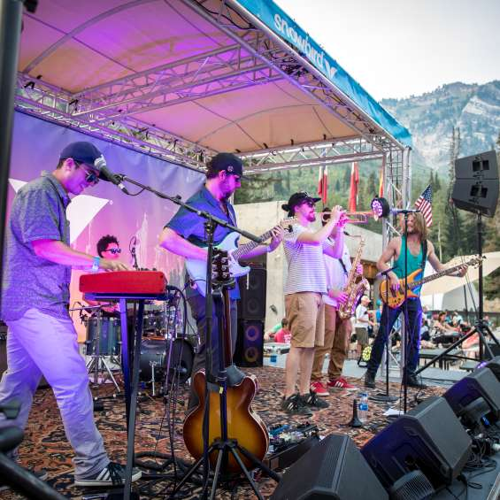 Big Blue Ox playing the Cool Air Concert Series at Snowbird.