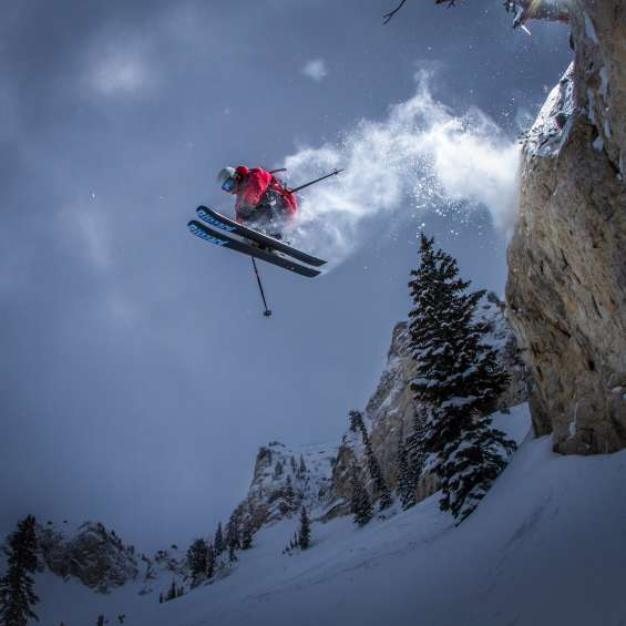 Skier Catching Air at Solitude