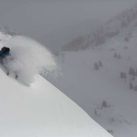 Sam Cohen Skiing at Snowbird