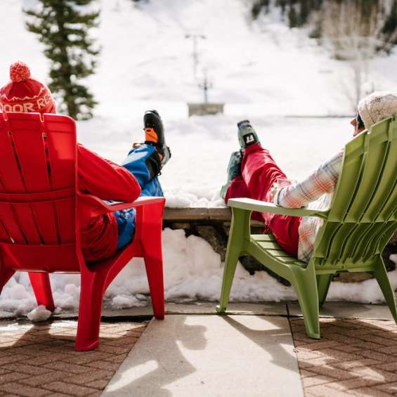 Skiers at Solitude by Austen Diamond