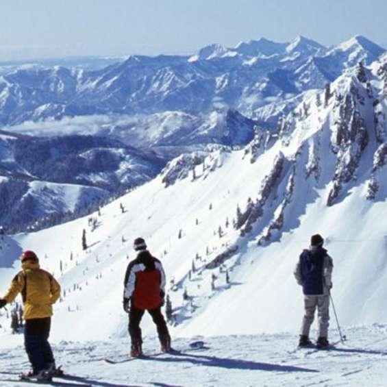 Skiers at Snowbird