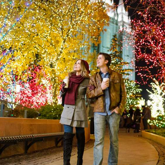 See the Temple Square Lights in downtown Salt Lake