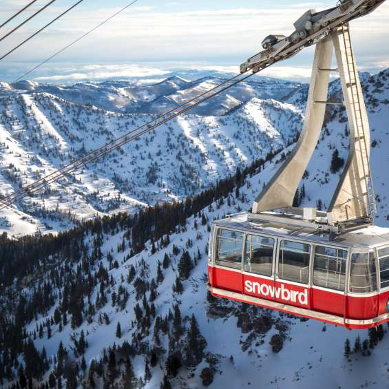 Tram at Snowbird in Winter