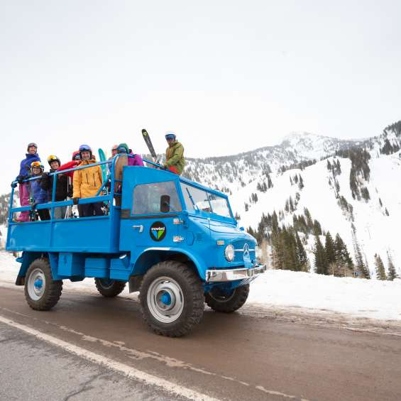 Unimog Carpool at Snowbird