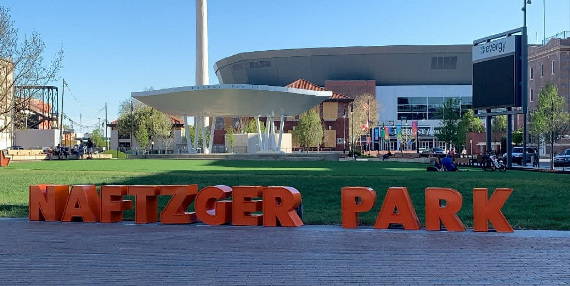 Naftzger Park in Downtown Wichita