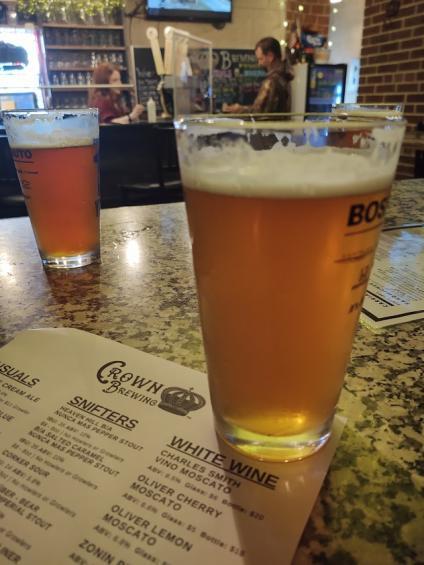 Crown Brewing beer and menu - Christine Olson