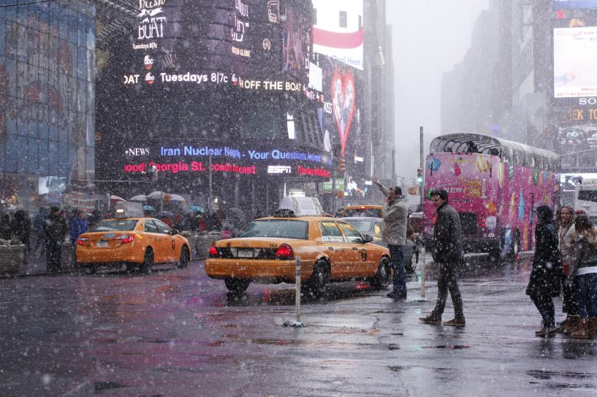 Times Square, Snow