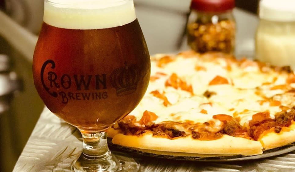 Crown Brewing and Carriage Court pizza and beer