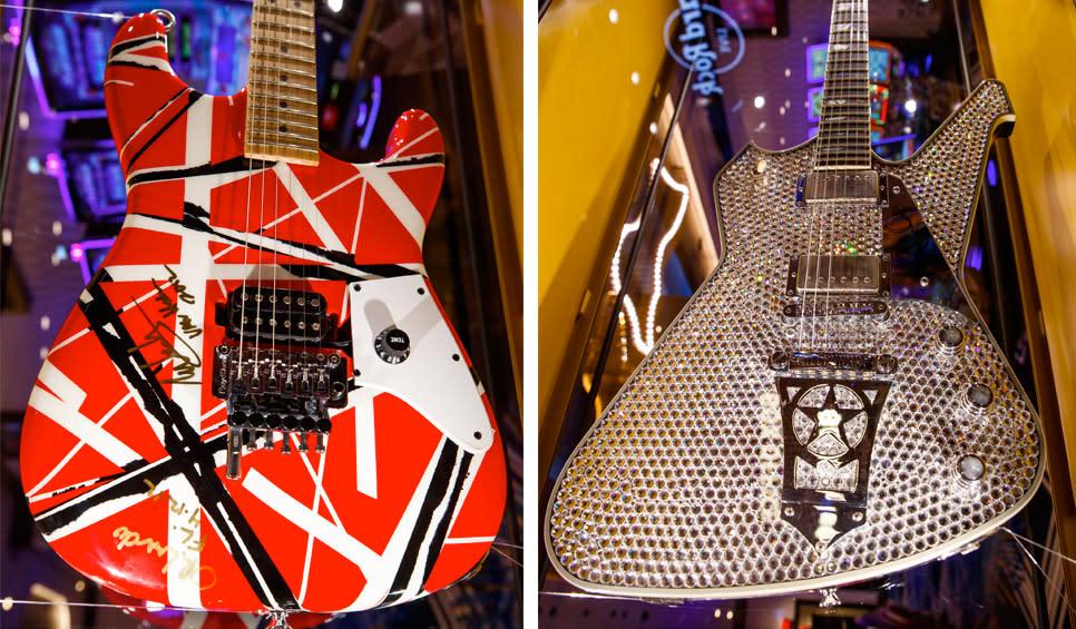 Hard Rock Casino Northern Indiana - Eddie Van Halen & Paul Stanley Guitars