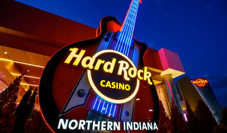 Hard Rock Casino Northern Indiana - Joseph Jackson guitar at entrance