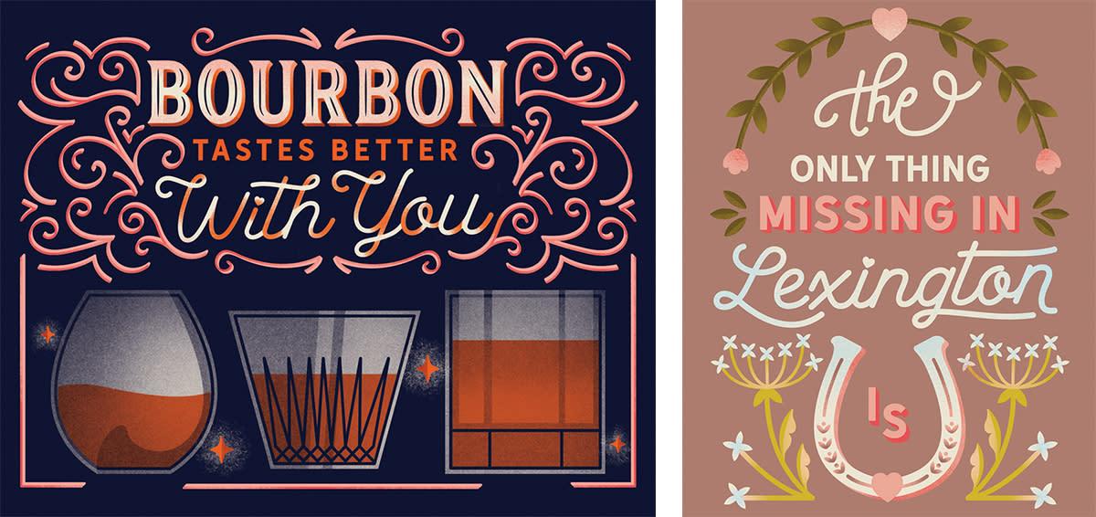 Bourbon and Missing U Post(Vaccine)Card Artwork