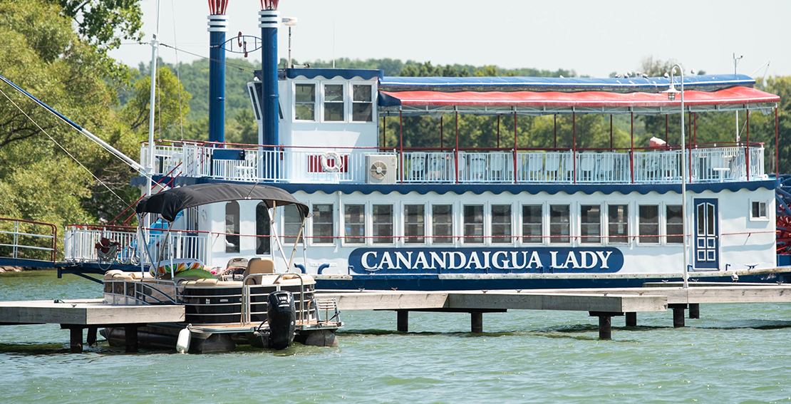 Canandaigua Lady docked on Canandaigua Lake