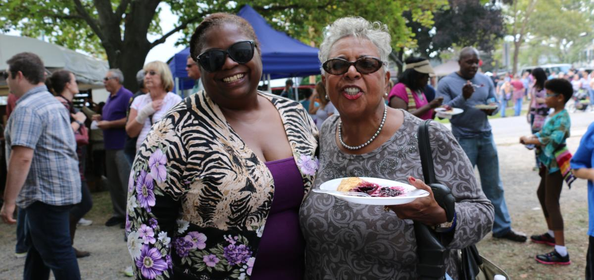 Friends enjoying the Naples Grape Festival