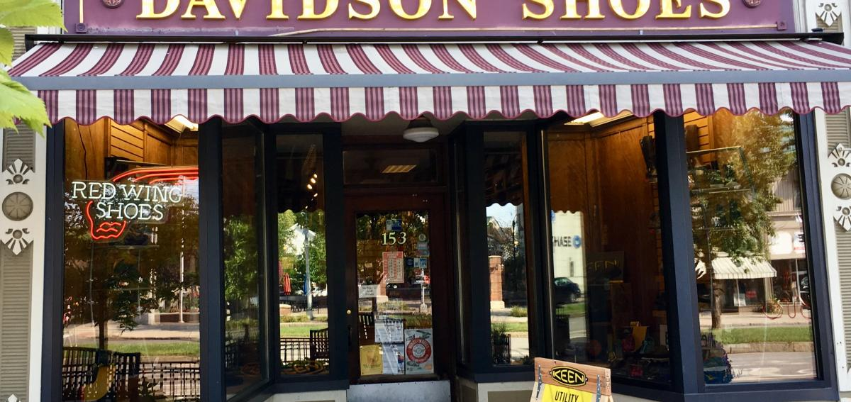 Davidson's Shoes storefront in Canandaigua