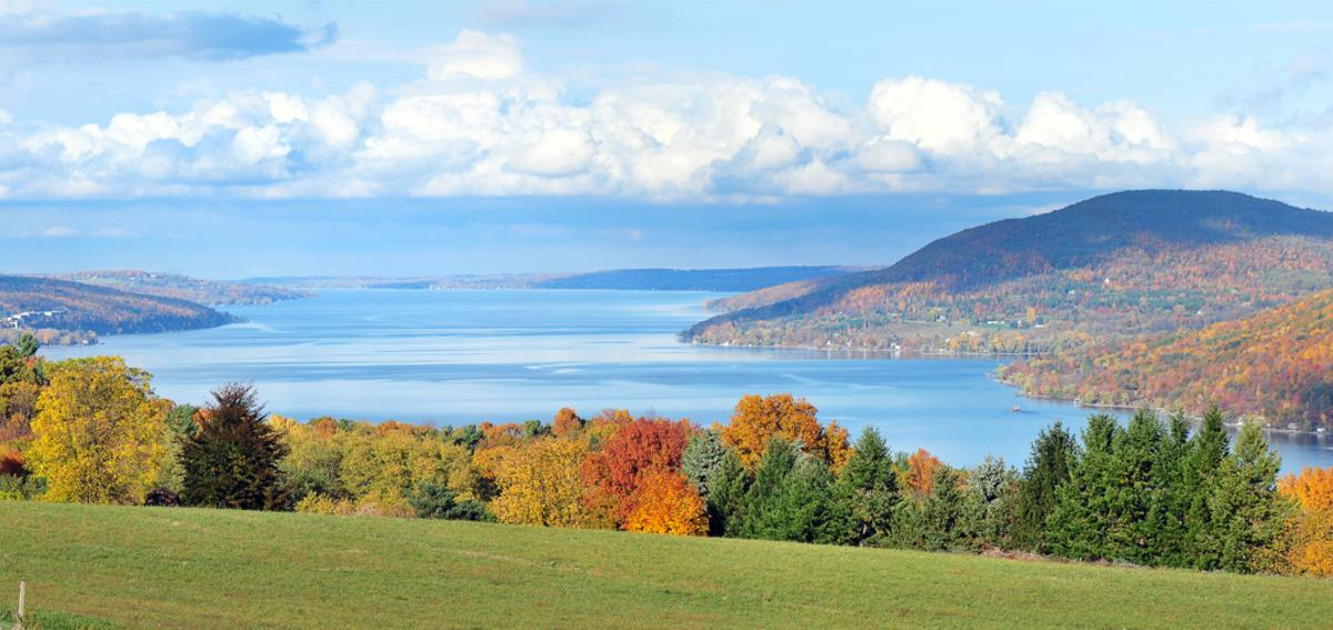 Canandaigua Lake in the Fall
