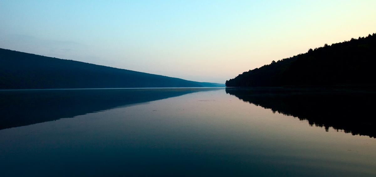 Hemlock Lake in the morning